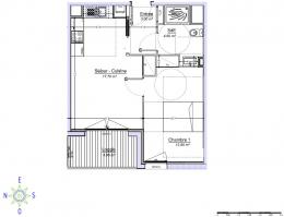 Location Appartement 2 pièces Plescop