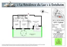 Achat Appartement 3 pièces Entzheim