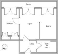Achat Appartement 2 pièces Neuville sur Saone