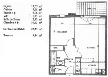 Appartement L Isle Jourdain &bull; <span class='offer-area-number'>42</span> m² environ &bull; <span class='offer-rooms-number'>2</span> pièces