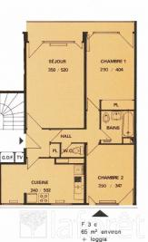 Appartement Rillieux la Pape &bull; <span class='offer-area-number'>66</span> m² environ &bull; <span class='offer-rooms-number'>3</span> pièces