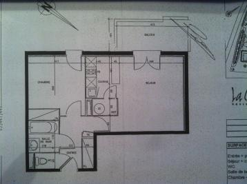 Appartement Castelnau d Estretefonds &bull; <span class='offer-area-number'>45</span> m² environ &bull; <span class='offer-rooms-number'>2</span> pièces