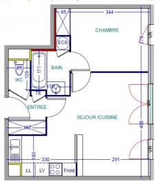 Appartement Decines Charpieu &bull; <span class='offer-area-number'>40</span> m² environ &bull; <span class='offer-rooms-number'>2</span> pièces