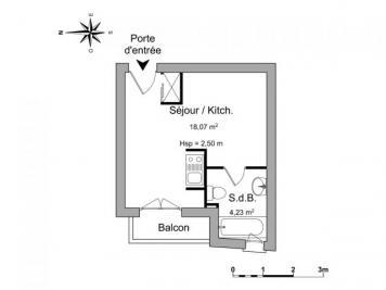 Appartement Pau &bull; <span class='offer-area-number'>22</span> m² environ &bull; <span class='offer-rooms-number'>1</span> pièce