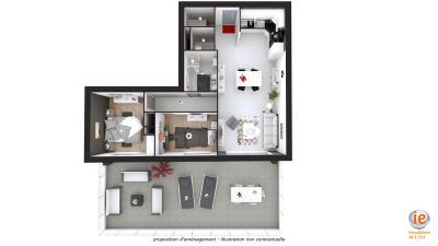 Appartement Albertville &bull; <span class='offer-area-number'>68</span> m² environ &bull; <span class='offer-rooms-number'>3</span> pièces