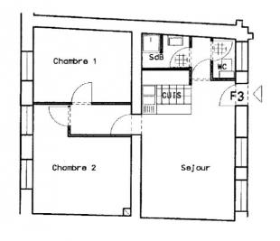 Appartement Ste Marie aux Mines &bull; <span class='offer-area-number'>51</span> m² environ &bull; <span class='offer-rooms-number'>3</span> pièces