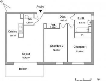 Appartement Le Petit Quevilly &bull; <span class='offer-area-number'>64</span> m² environ &bull; <span class='offer-rooms-number'>3</span> pièces