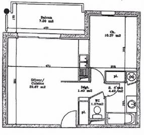 Appartement Dax &bull; <span class='offer-area-number'>40</span> m² environ &bull; <span class='offer-rooms-number'>2</span> pièces
