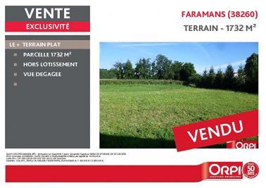 Terrain Faramans &bull; <span class='offer-area-number'>1 732</span> m² environ
