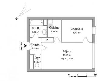 Appartement Courseulles sur Mer &bull; <span class='offer-area-number'>39</span> m² environ &bull; <span class='offer-rooms-number'>2</span> pièces