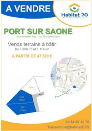 Terrain Port sur Saone &bull; <span class='offer-area-number'>1 056</span> m² environ