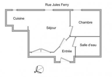 Appartement Fontaines sur Saone &bull; <span class='offer-area-number'>33</span> m² environ &bull; <span class='offer-rooms-number'>2</span> pièces