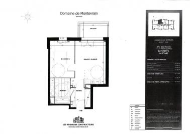 Appartement Montevrain &bull; <span class='offer-area-number'>41</span> m² environ &bull; <span class='offer-rooms-number'>2</span> pièces