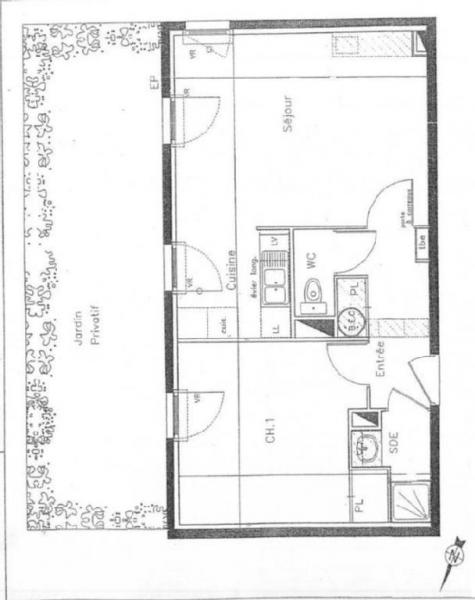 Appartement  45 m² environ  2 pièces Nantes