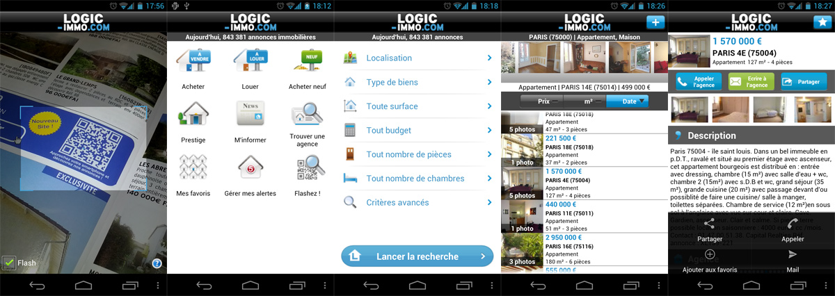 Application immobili re android gratuite logic - Application logic immo ...