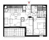Appartement Nantes • 54 m² environ • 3 pièces