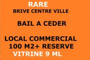 Local commercial Brive la Gaillarde • 100m² • 1 p.