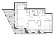 Appartement Paris 13 • 63 m² environ • 3 pièces