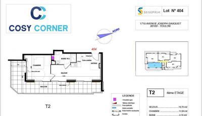 Vente appartement Toulon • <span class='offer-area-number'>36</span> m² environ • <span class='offer-rooms-number'>1</span> pièce