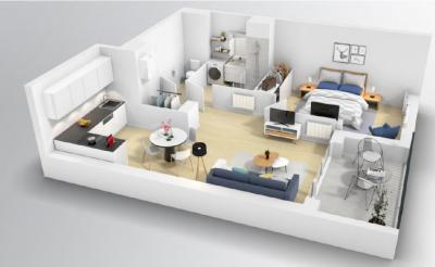 Vente appartement Coulommiers • <span class='offer-area-number'>47</span> m² environ • <span class='offer-rooms-number'>2</span> pièces