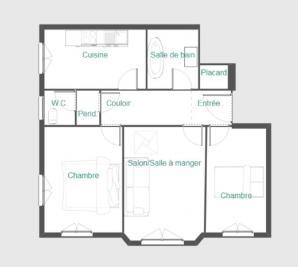 Appartement Paris 17 • <span class='offer-area-number'>59</span> m² environ • <span class='offer-rooms-number'>3</span> pièces