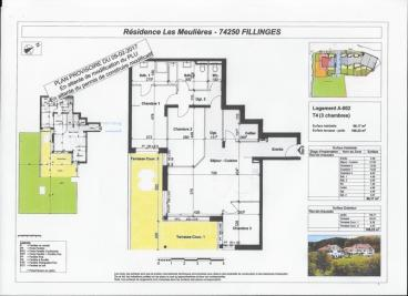 Vente appartement Fillinges • <span class='offer-area-number'>96</span> m² environ • <span class='offer-rooms-number'>4</span> pièces