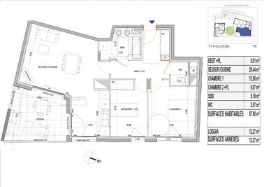 Achat appartement Lyon 08 • <span class='offer-area-number'>68</span> m² environ • <span class='offer-rooms-number'>3</span> pièces