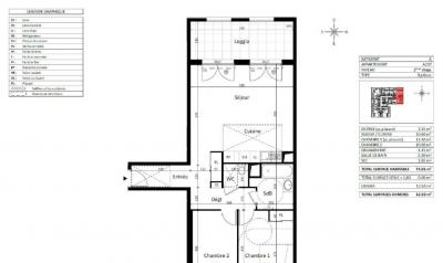 Appartement Aix en Provence • <span class='offer-area-number'>74</span> m² environ • <span class='offer-rooms-number'>3</span> pièces