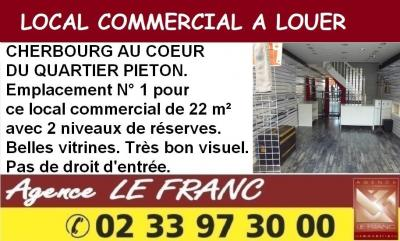 Location commerce Cherbourg • <span class='offer-area-number'>66</span> m² environ