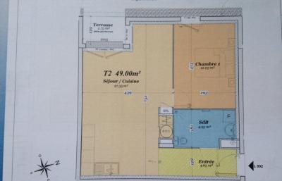 Appartement St Brieuc • <span class='offer-area-number'>49</span> m² environ • <span class='offer-rooms-number'>2</span> pièces