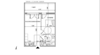 Appartement Castelnau le Lez • <span class='offer-area-number'>38</span> m² environ • <span class='offer-rooms-number'>2</span> pièces