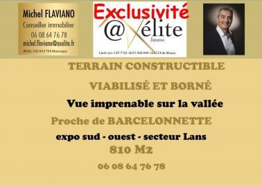 Vente terrain Barcelonnette • <span class='offer-area-number'>810</span> m² environ