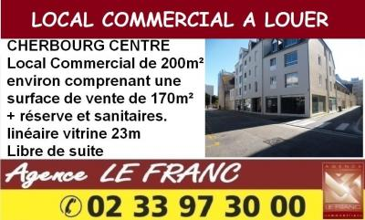 Location commerce Cherbourg Octeville • <span class='offer-area-number'>200</span> m² environ