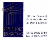 REPUBLIQUE TRANSACTIONS