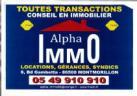 Agence immobilière ALPHA IMMO SARL