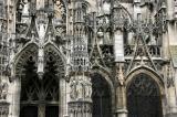 Détails de l'église Notre-Dame de style gothique. C'est l'une des fiertés de la ville de Louviers.